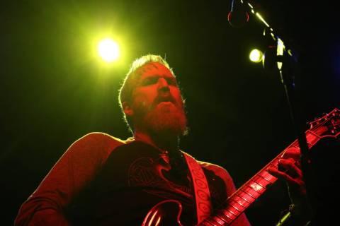 Brent Hinds of Mastodon performs with Eagles of Death Metal during Las Rageous, a hard rock mus ...