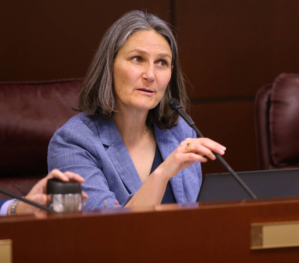 Sen.Julia Ratti, D-Sparks, leads a Health and Human Services Committee meeting in the Leg ...