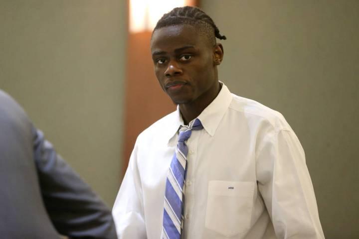 Weslie Martin, accused of burglarizing Wayne Newton's home, during his court hearing at the Reg ...