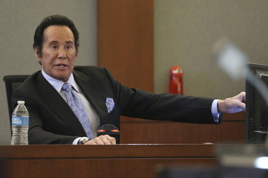 Wayne Newton testifies in the witness stand in the State of Nevada case against Weslie Martin, ...