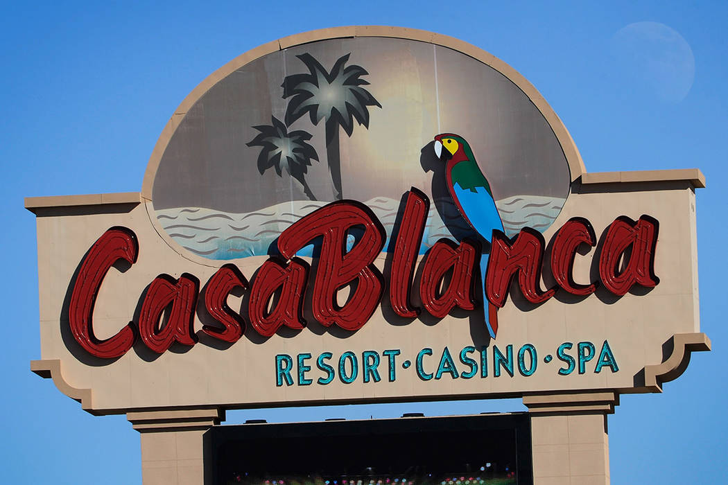 The Casablanca hotel-casino sign is seen on Monday, Jan. 21, 2013 in Mesquite. (Las Vegas Revie ...