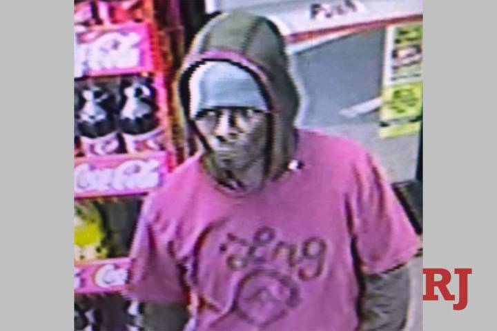 Las Vegas police are asking for help finding a man suspected of robbing a business Saturday nig ...