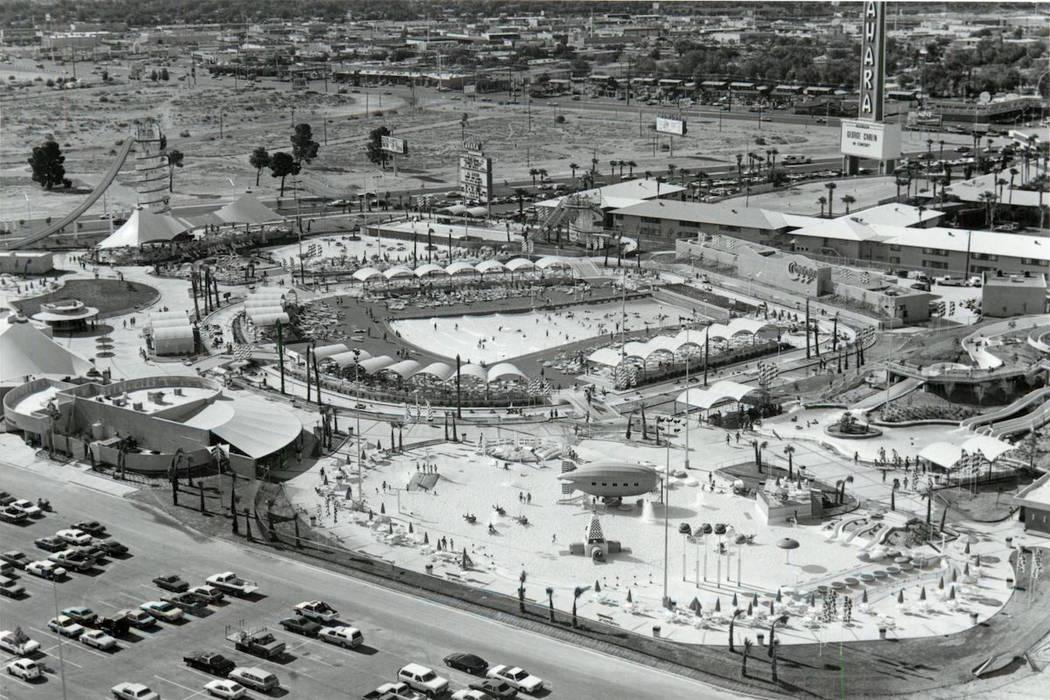 An aerial view of Wet'n'Wild on Las Vegas Boulevard in 1985. (Las Vegas News Bureau)