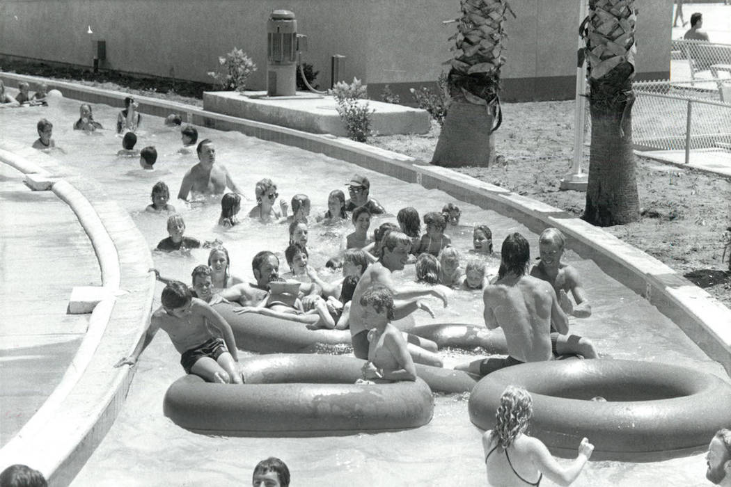 Wet'n'Wild attendees enjoy the lazy river in 1985. (Gary Thompson/Las Vegas Review-Journal)