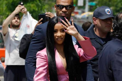 This May 31, 2019 file photo shows Cardi B arriving at Queens Criminal Court, in New York. (AP ...
