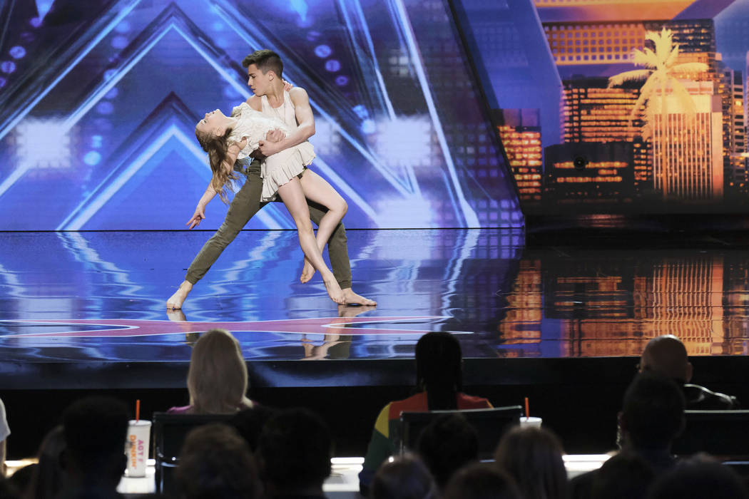 """Izzy and Easton during auditions for """"America's Got Talent."""" (Photo by: Trae Patton/NBC)"""