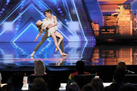 "Izzy and Easton during auditions for ""America's Got Talent."" (Photo by: Trae Patton/NBC)"