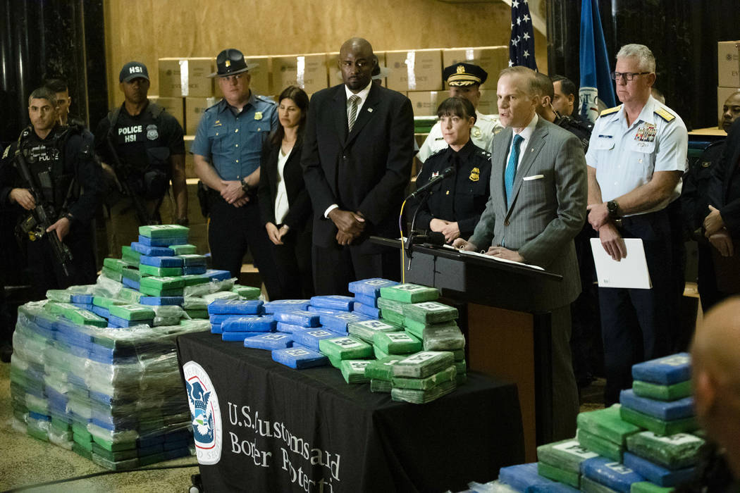 U.S. Attorney for the Eastern District of Pennsylvania William McSwain speaks with members of t ...