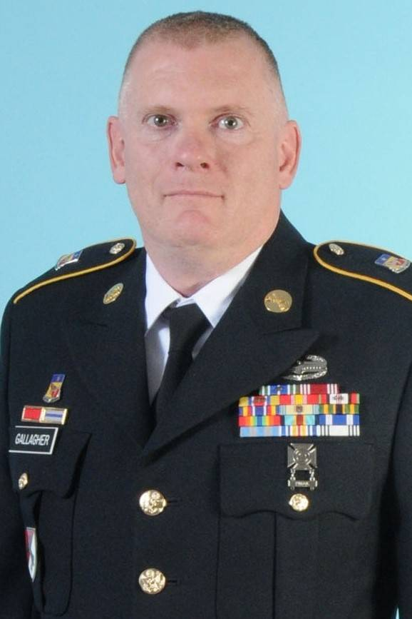 A photo of Nevada Army Guard Sgt. 1st Class David Gallagher, who was killed June 4 during a tra ...