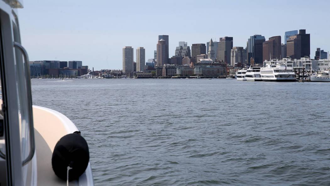 Captain Jacqueline Saba pilots a luxury harbor shuttle from Encore Boston Harbor in Everett, Ma ...