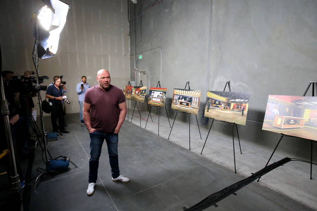 Ultimate Fighting Championship President Dana White gives a tour of the new UFC Apex in Las Veg ...