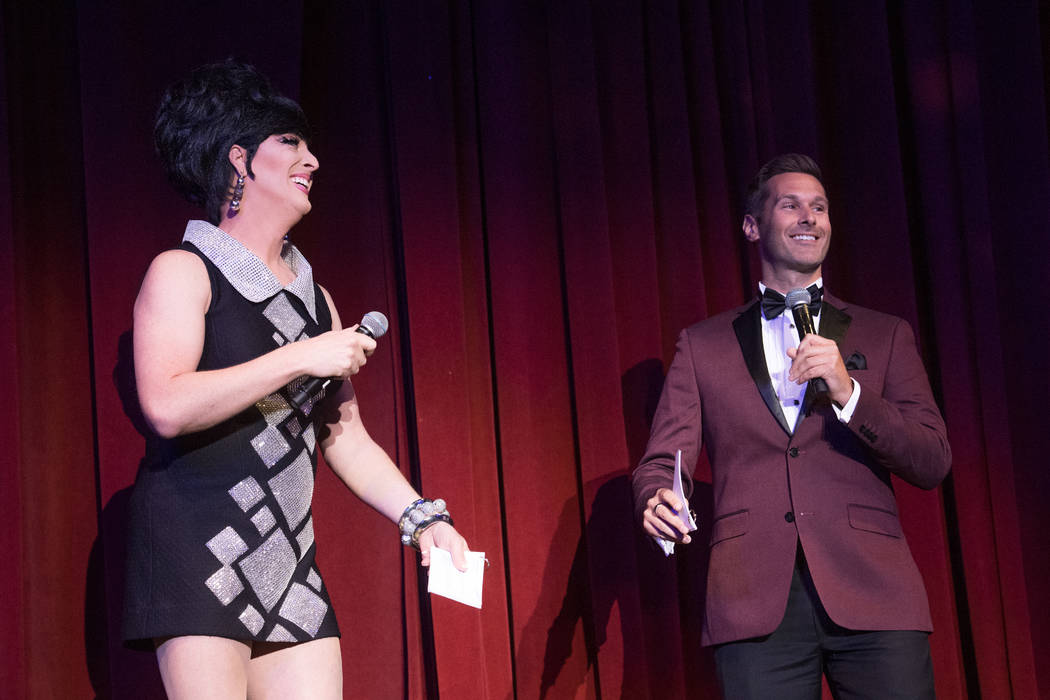 Edie the Entertainer and Sean McAllister of Fox 5 are shown at the 31st annual Ribbon of Life s ...