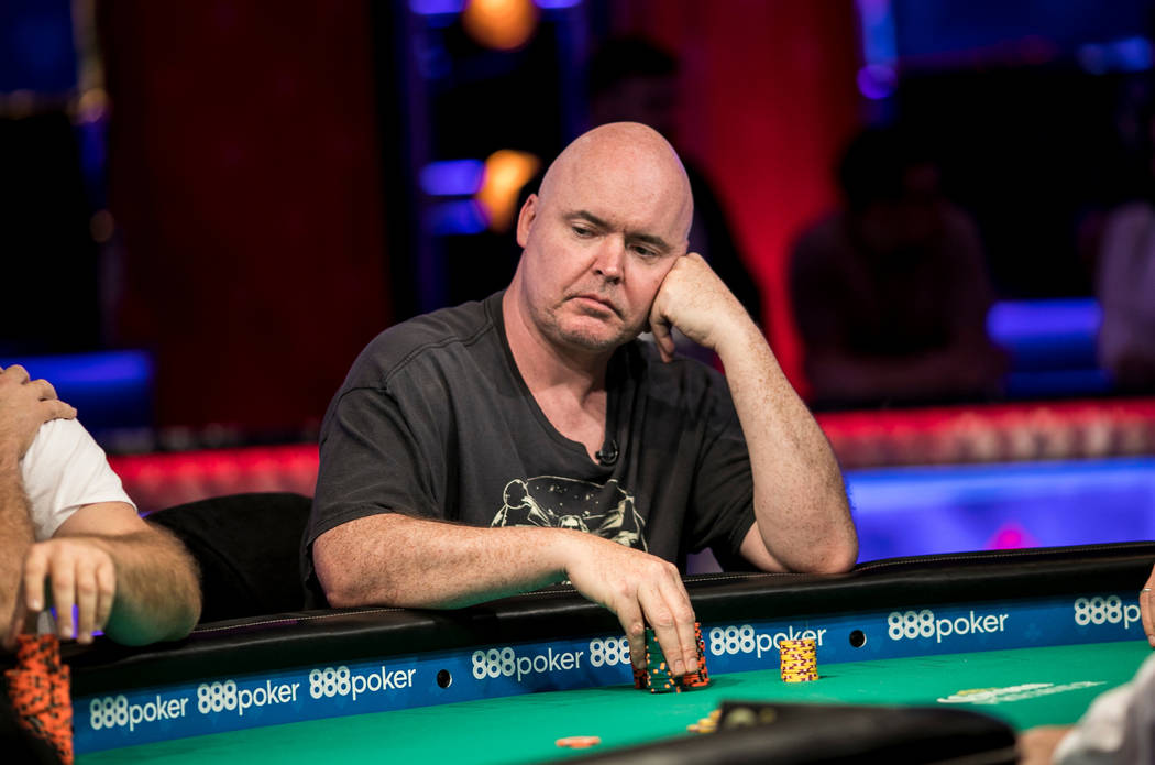 John Hennigan plays in the $10,000 buy-in Seven Card Stud event at the Rio Convention Center. P ...