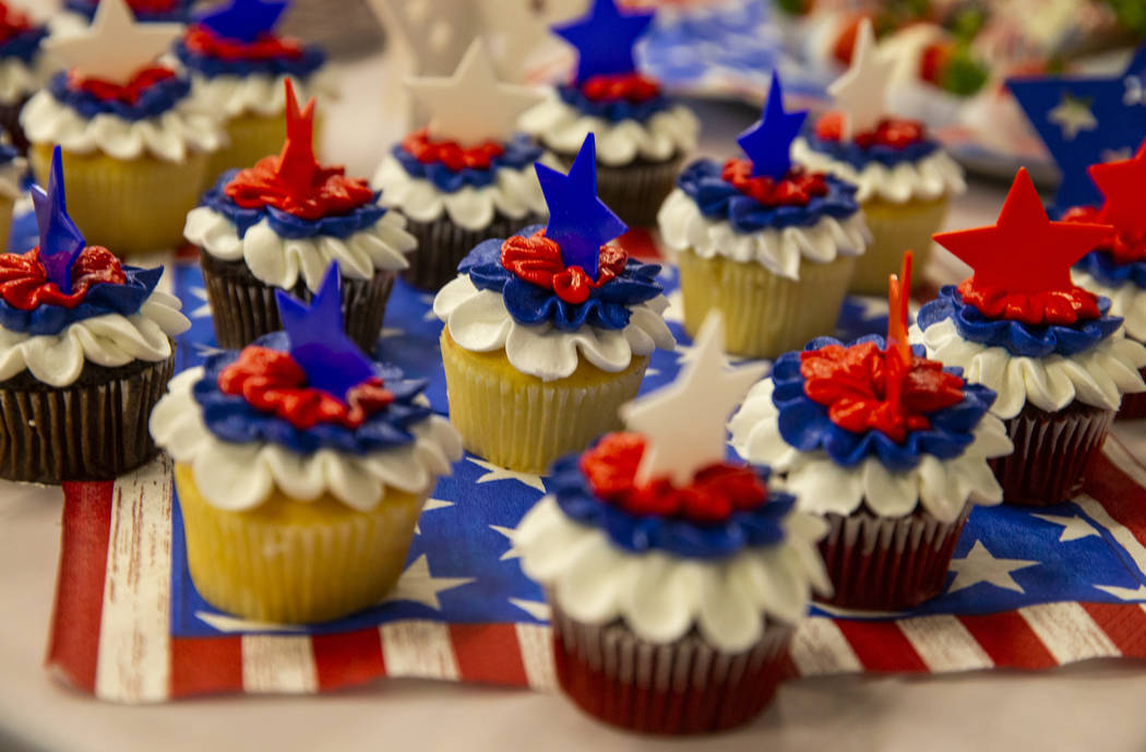 Decorative cupcakes are ready for the tasting during the Operation Homefront sponsored Star-Spa ...