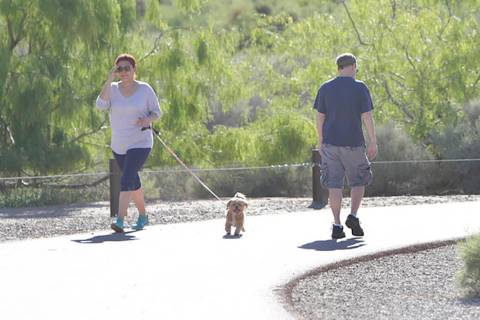 The Las Vegas Valley will enjoy unusually cool temperatures this weekend, punctuated by a Satur ...