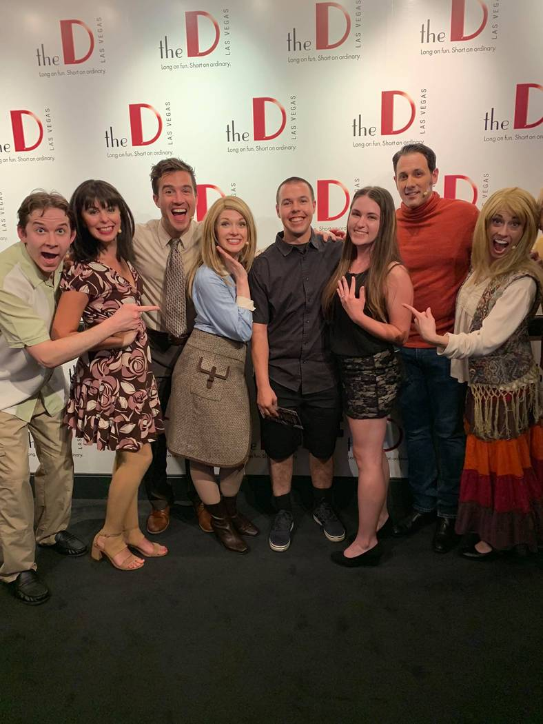"""Kelsey Kost and Kaysen Winger are shown with the cast of """"Friends! A Musical Parody"""" after Wing ..."""