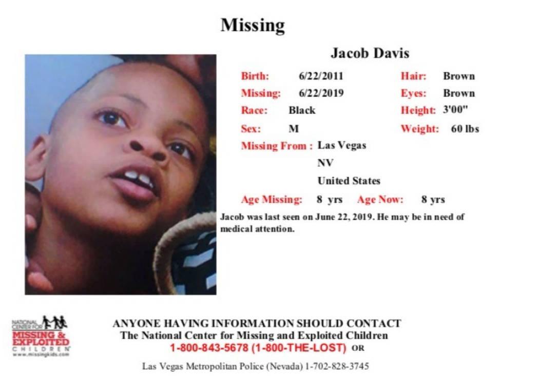 missing person flyer (Las Vegas Metropolitan Police Department)