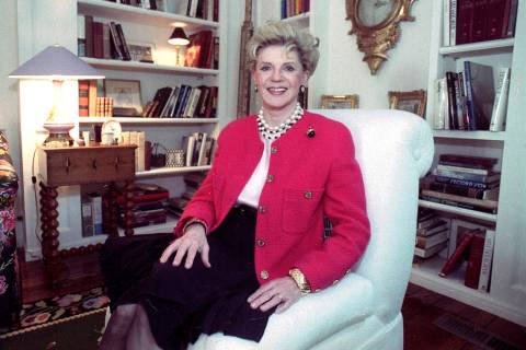 FILE - Judith Krantz, poses in an undated file photo during an interview at her home in the Bel ...