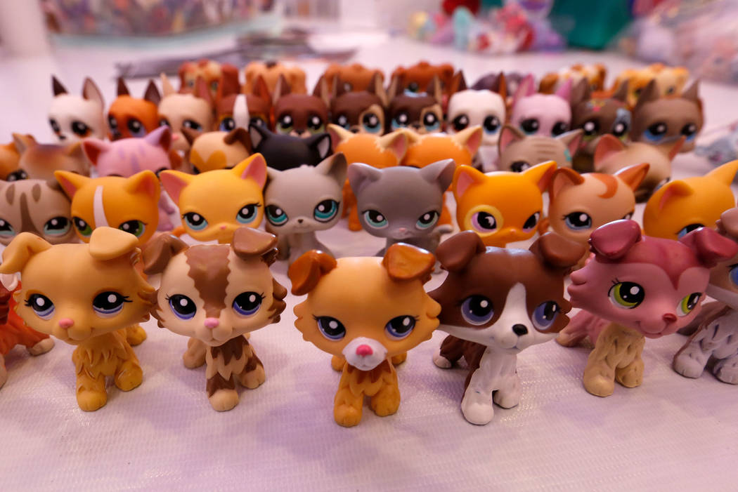 A Littlest Pet Shop collection of Lila Turner, 11, of Austin, Texas is seen during LPSCon West ...