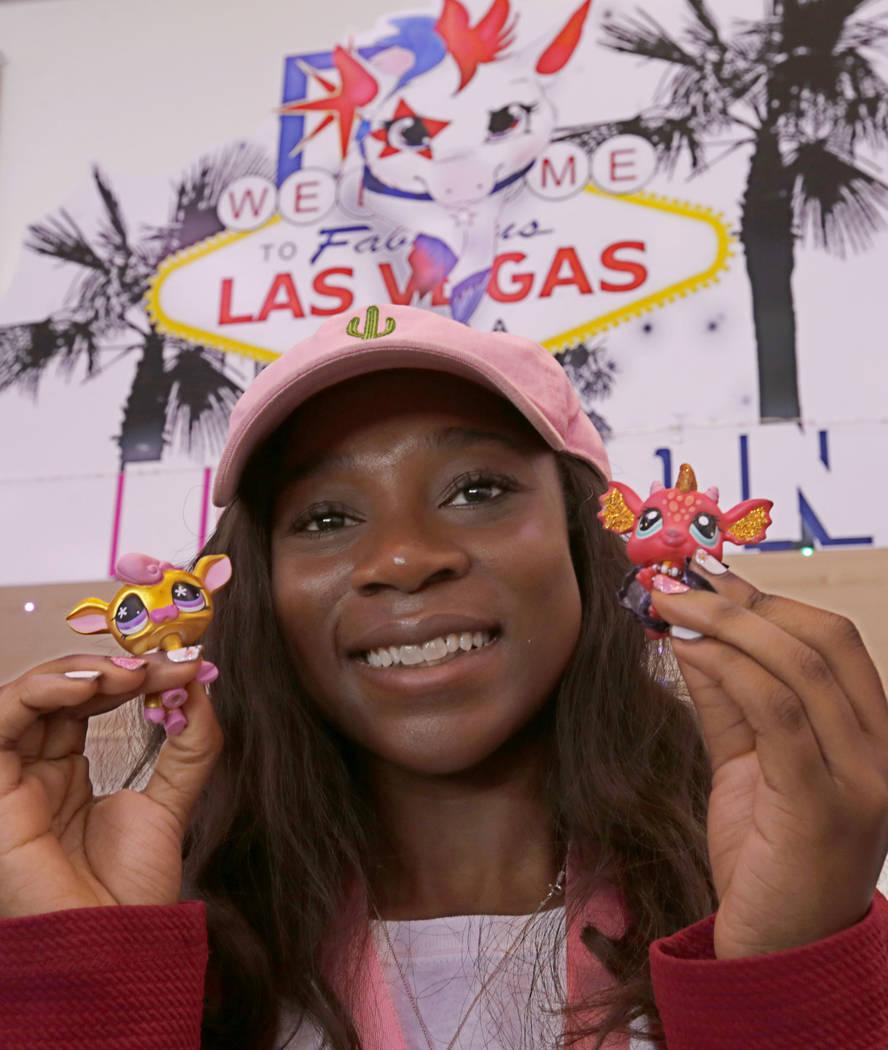 LPSCon West Coast organizer Nana Sarfo, 16, of Las Vegas shows her Littlest Pet Shop dolls duri ...