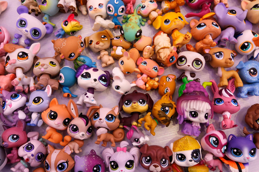 A Littlest Pet Shop collection Briana Friedlinghaus, 10, of Calabasas, Calif., is seen during ...