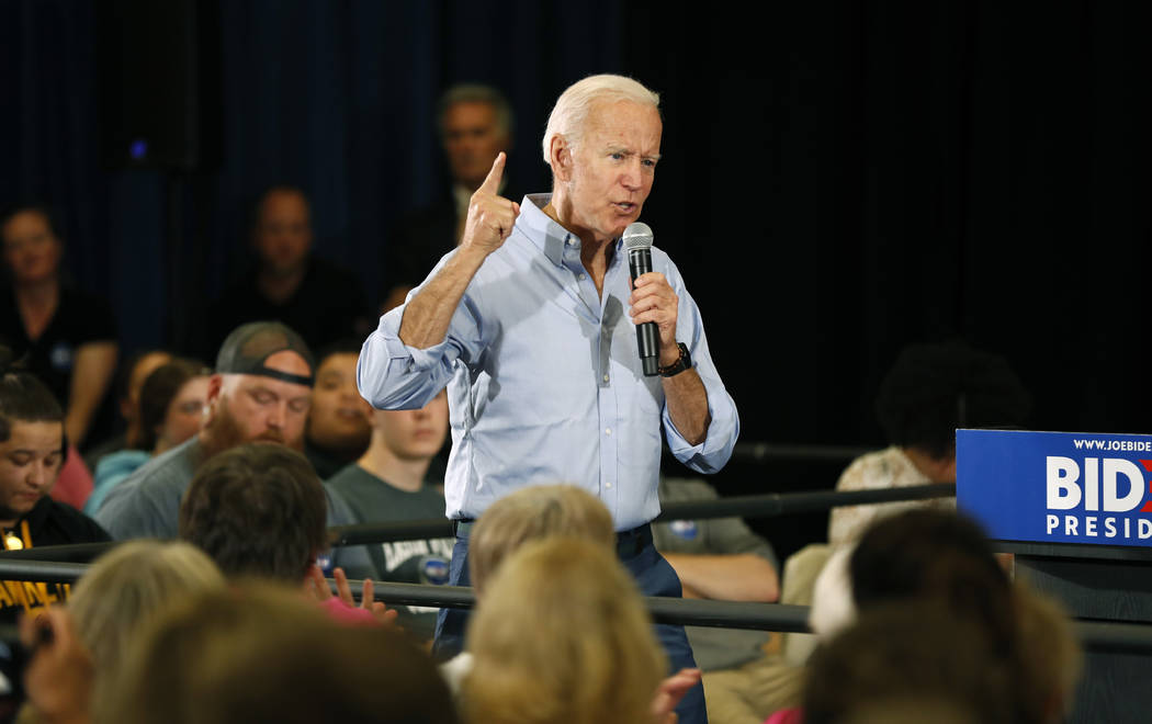 FILE - In this June 12, 2019, file photo, Democratic presidential candidate former Vice Preside ...