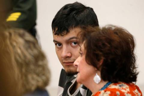 Wilber Martinez-Guzman appears in Carson City Justice Court on Thursday, Jan. 24, 2019. (Cathle ...