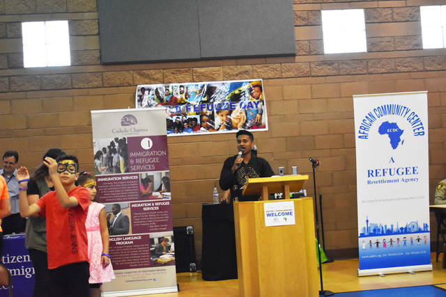Catholic Charities and ECDC African Community Center hosted various speakers on World Refugee D ...