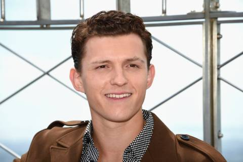 "Actor Tom Holland from the film ""Spider-Man: Far From Home"" poses for the media on the 86th flo ..."