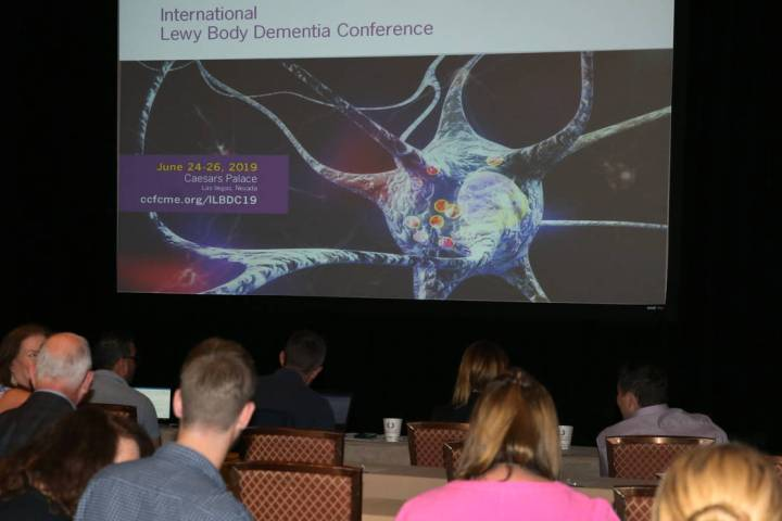 Attendees at International Lewy Body Dementia Conference at Caesars Palace on Monday, June 24, ...