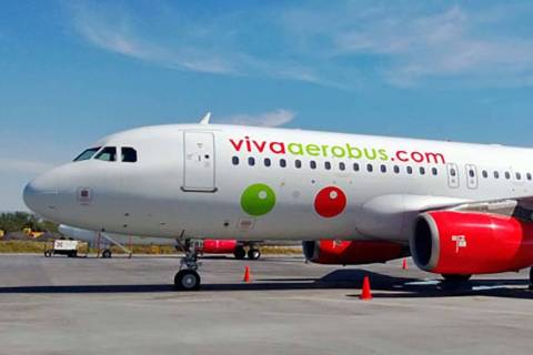Viva Aerobus Airlines last week celebrated new twice weekly nonstop service between Las Vegas a ...