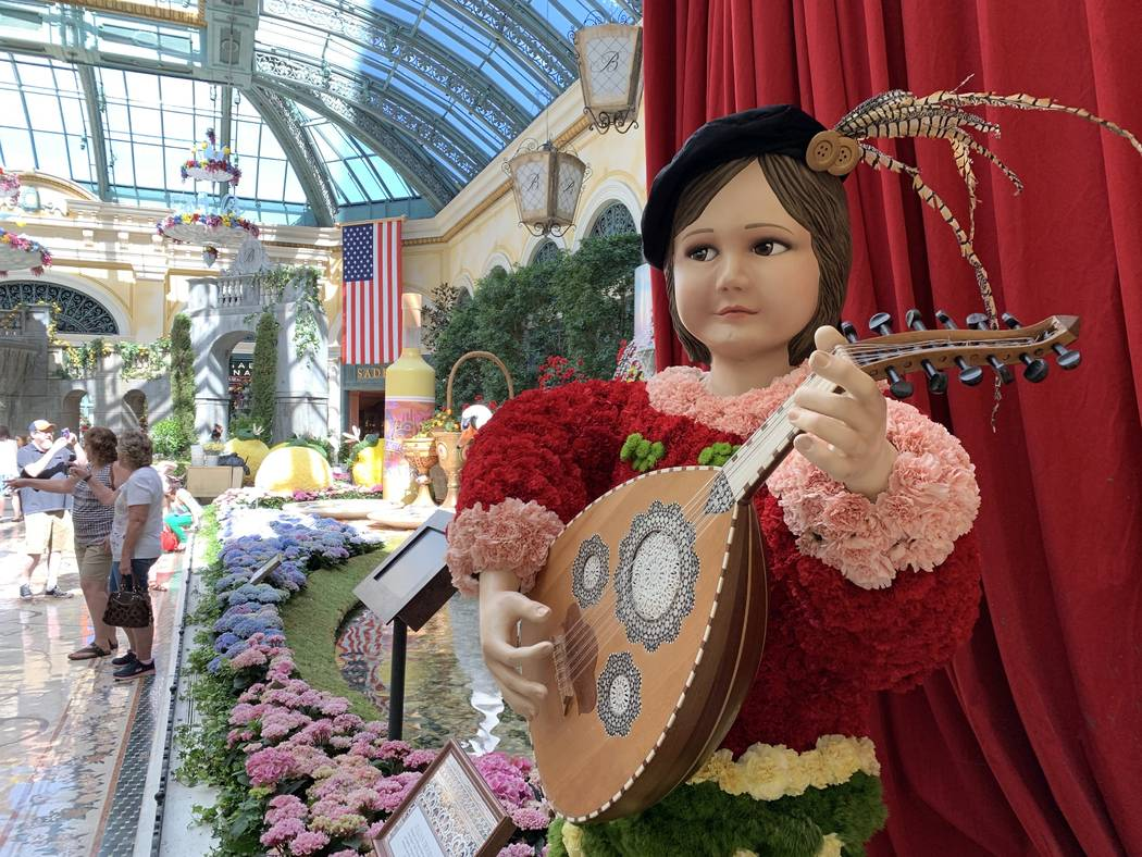 The Bellagio's conservatory has opened its gates to their summer display. (Mat Luschek / Review ...