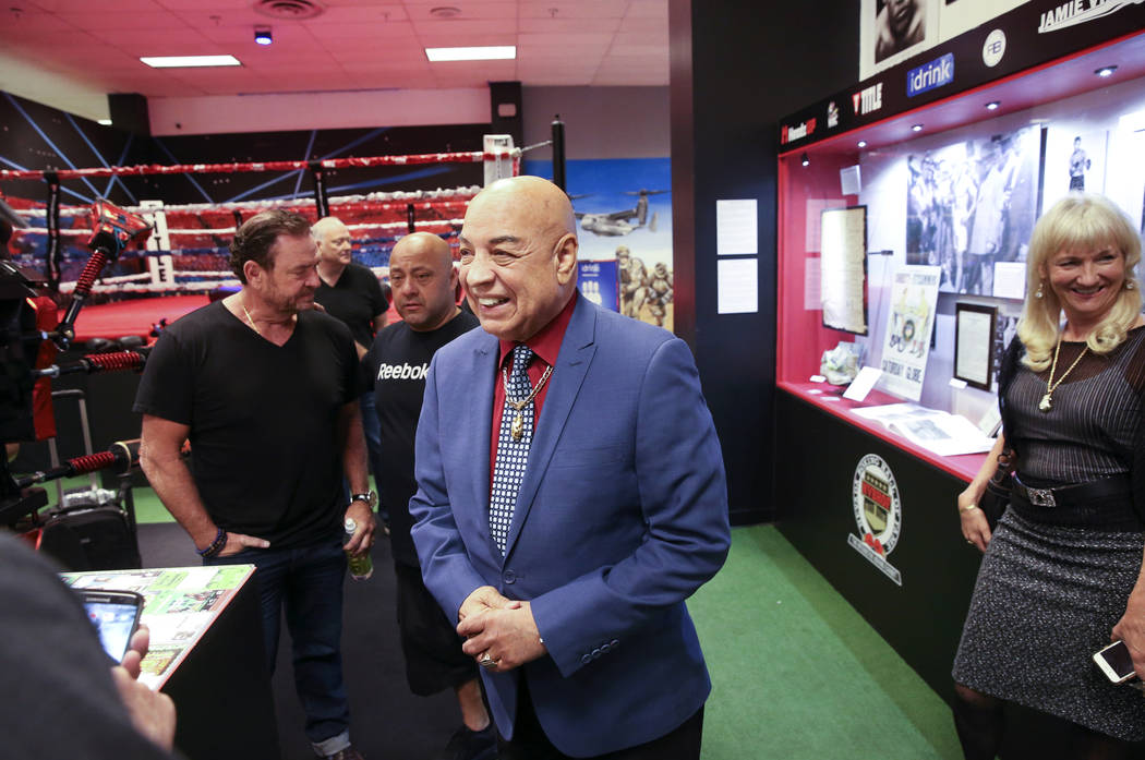 International Boxing Hall of Fame referee Joe Cortez arrives at the Nevada Boxing Hall of Fame ...