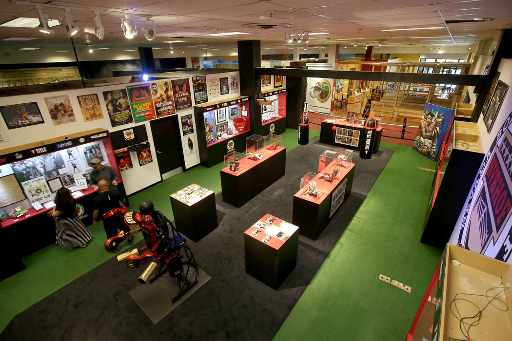 The Nevada Boxing Hall of Fame inside Headz Up entertainment complex at the Boulevard Mall in L ...