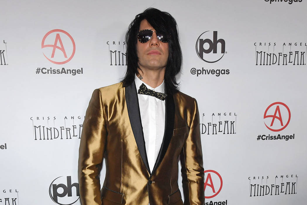"""Illusionist Criss Angel attends the grand opening of """"Criss Angel MINDFREAK"""" at Planet Hollywoo ..."""