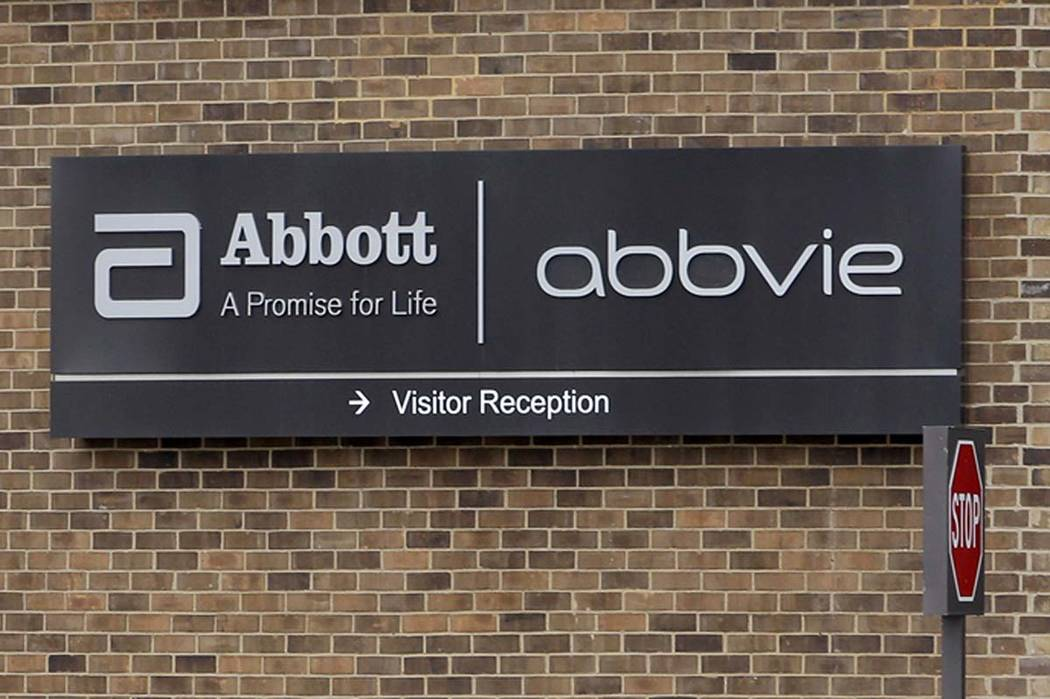 A Jan. 24, 2015, file photo, shows the exterior of AbbVie, in Lake Bluff, Ill. AbbVie is buying ...
