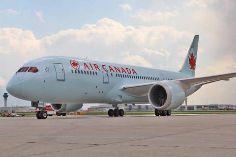 An Air Canada plane sits on a tarmac. (Air Canada/Facebook)