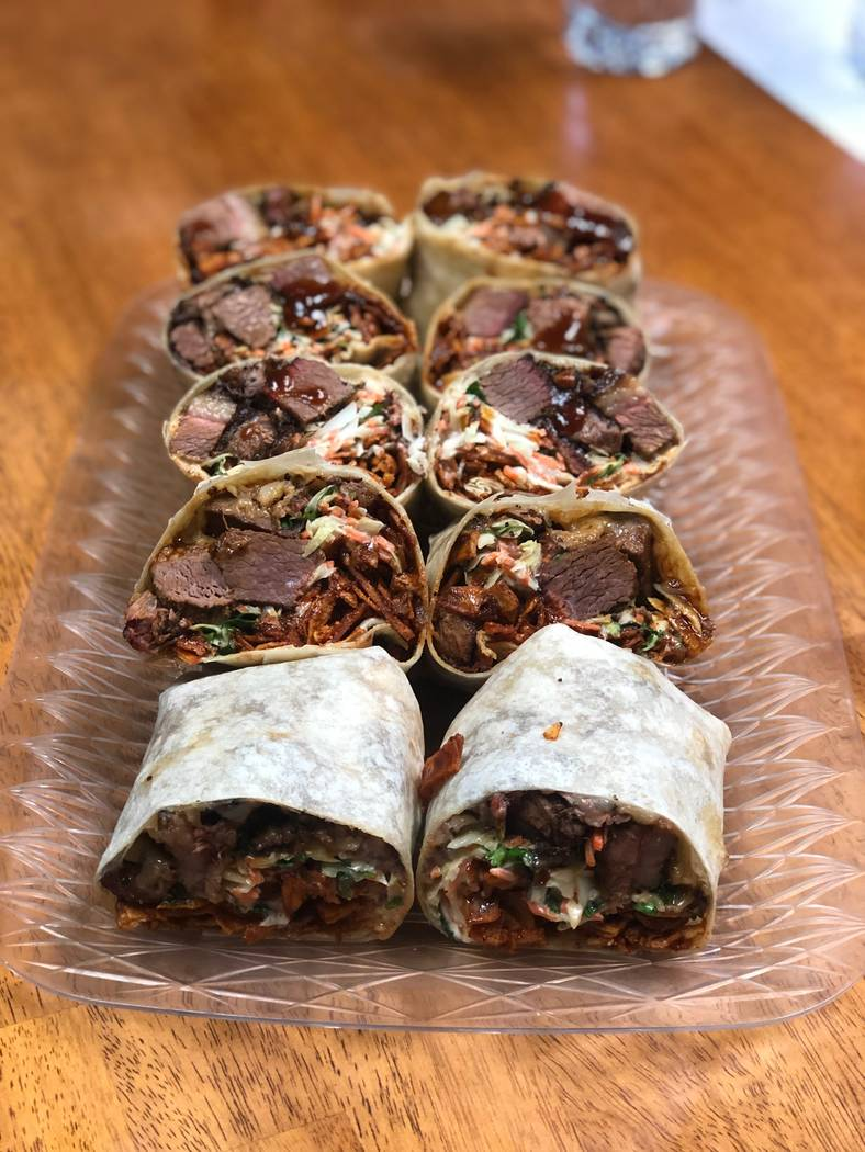 Burnt ends burrito at BBQ Mexicana. (Peter Harasty)