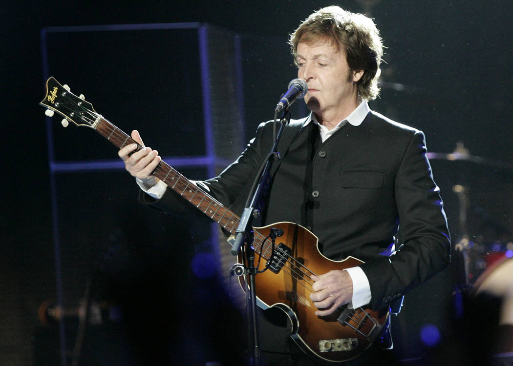 Paul McCartney in concert at The Joint located inside of the Hard Rock hotel-casino on Sunday, ...