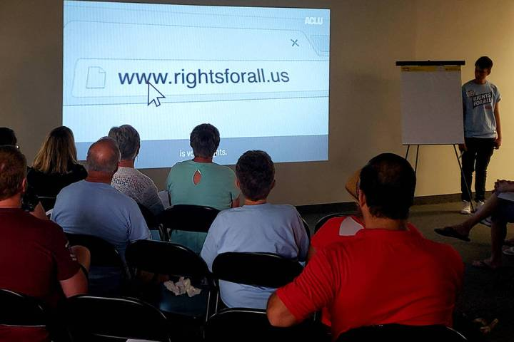 The American Civil Liberties Union of Nevada opened a new office Tuesday, June 25, 2019, in Las ...