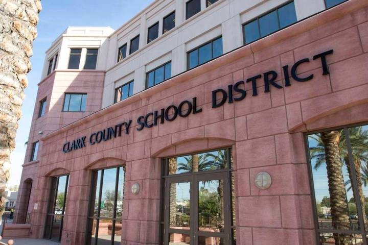 Clark County School District administration building at 5100 W. Sahara Ave. in Las Vegas (Richa ...