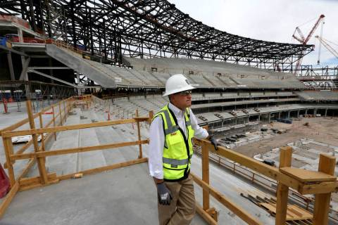 Las Vegas Stadium Co. Chief Operating Officer Don Webb at the Raiders stadium construction site ...