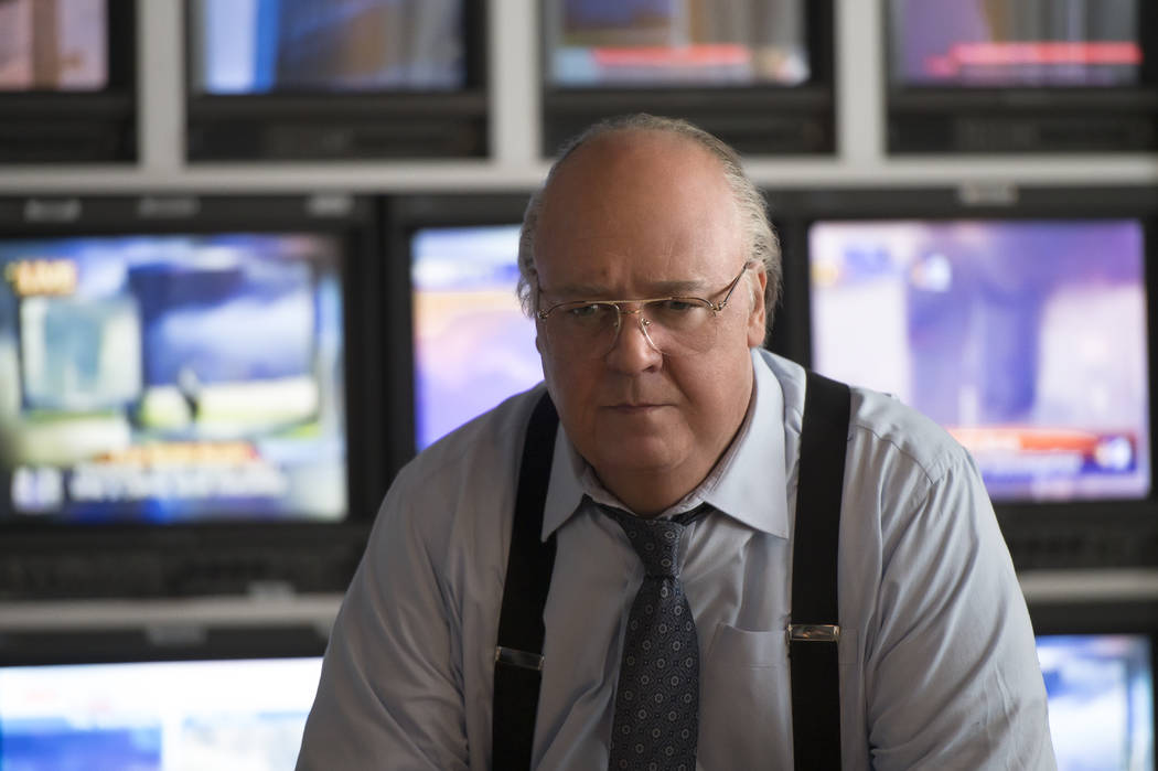 """Russell Crowe as Roger Ailes in THE LOUDEST VOICE, """"2001"""". Photo Credit: JoJo Whilden/SHOWTIME."""