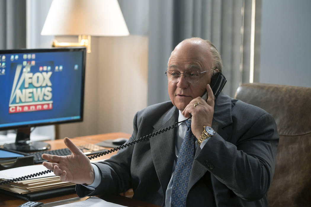 """Russell Crowe as Roger Ailes in THE LOUDEST VOICE, """"2008"""". Photo Credit: JoJo Whilden/SHOWTIME."""