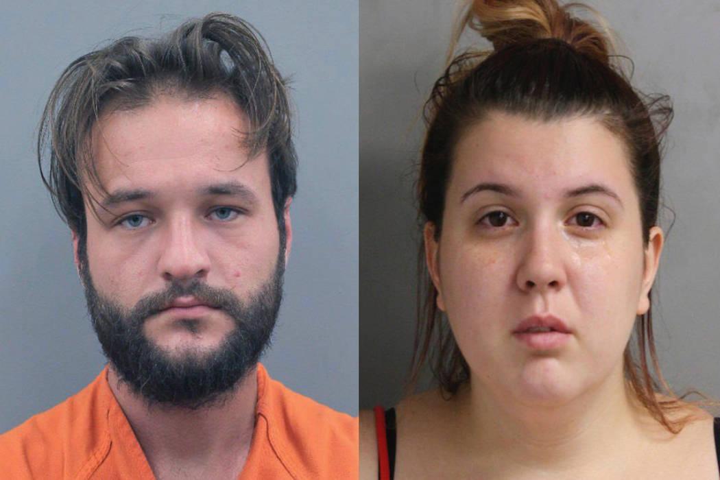 Jason Paul Robin and Katharine Wyndham White (Houston Police Department via AP)