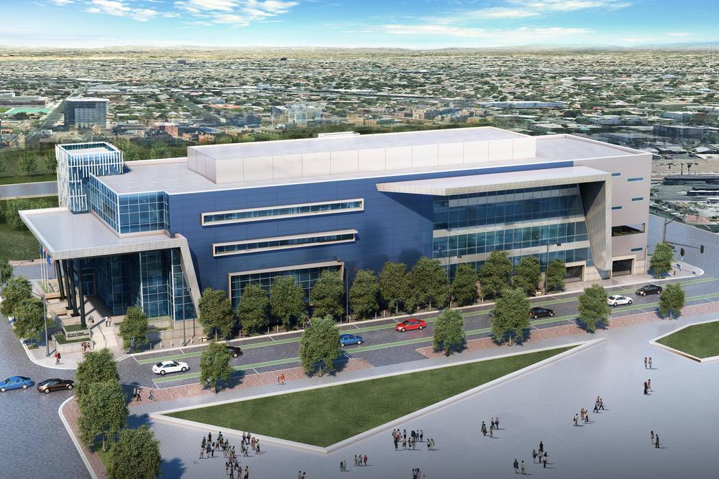 A rendering of the Las Vegas courthouse. (Molasky Group of Cos.)