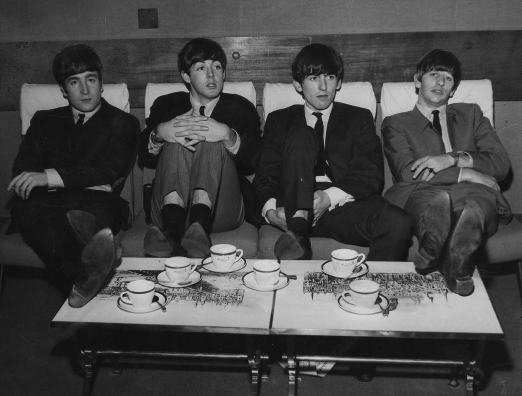 The Liverpool beat group The Beatles, with John Lennon, Paul McCartney, George Harrison and Rin ...