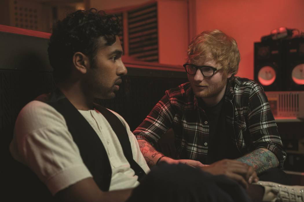 """Jack Malik (Himesh Patel),left, and Ed Sheeran (playing himself) in """"Yesterday,"""" directed by Da ..."""
