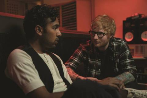 "Jack Malik (Himesh Patel),left, and Ed Sheeran (playing himself) in ""Yesterday,"" directed by Da ..."