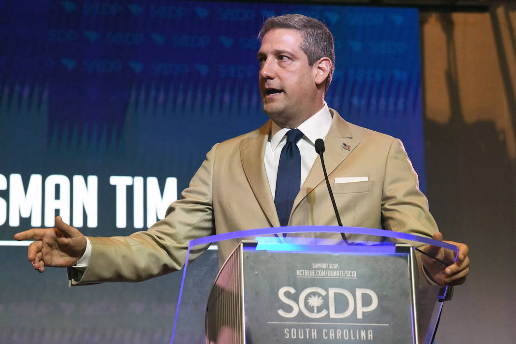 Ohio Congressman Tim Ryan addresses the South Carolina Democratic Party Convention, Saturday, J ...